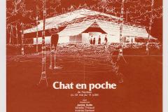 «Chat en poche», affiche, 1979