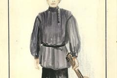«Oncle Vania», dessin de costume créé par Denis Denoncourt, 1982