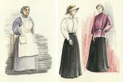 «Oncle Vania», dessins de costumes créés par Denis Denoncourt, 1982
