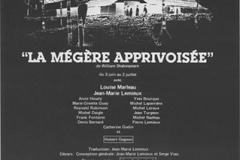 «La mégère apprivoisée»,  affiche, 1983