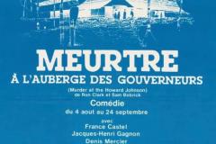 «Meurtre à l_Auberge des Gouverneurs», affiche, 1983