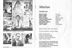 Page centrale du programme, 1984