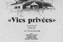«Vies-privées», affiche, 1985