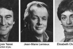 «Vies-privées», distribution, 1985