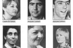«Les femmes savantes», distribution, 1986