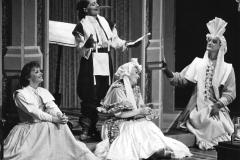 «Les femmes savantes», Lisette St-Gelais, Andrée Samson, Ghyslaine Vincent, Yves Jacques, 1986. Photo: Léopold Rousseau.