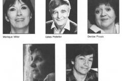 «Une folie», la distribution, 1986