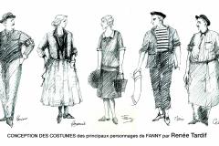 «Fanny», costumes par Renée Tardif,1987.