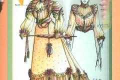 «Tailleur pour dames», dessin de costume créé par Luce Pelletier, 1988
