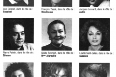 «Tailleur pour dames», distribution, 1988