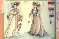 «Tailleur pour dames», dessin des costumes créés par Luce Pelletier, 1988