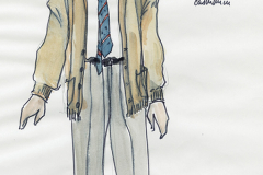«Qui a peur de Virginia Woolf?» dessin de costume créé par Paul Bussières, © collection Paul Bussières, 1989