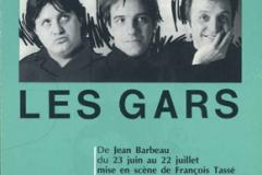 «Les gars», couvert du programme, 1989