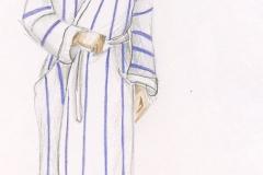 «Les gars», dessin de costume créé par Caroline Drouin , 1989