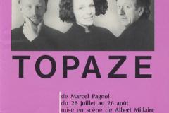 «Topaze», couvert du programme, 1989