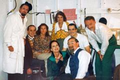 «Topaze», en loge avec Patricia Nolin, André Lachance, Albert Millaire, Pierre Potvin, Geneviève Lagacé, Carole Nadeau, Jacques Baril, Aubert Pallascio, 1989