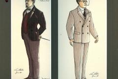 «Topaze», dessin de costumes créés par Luce Pelletier, 1989