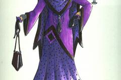 «Topaze», dessin de costume créé par Luce Pelletier, 1989