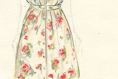 «À Julia», dessin de costume créé par Caroline Drouin, 1990