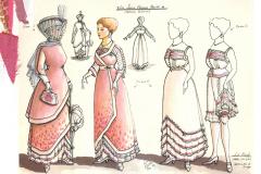 «La ronde», dessins de costumes créés par Luce Pelletier, 1990