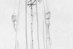 «Fleurs d_acier», dessin de costume créé par Denis Denoncourt, © 1990