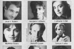 «Cent millions qui tombent»,  distribution, 1992