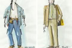 «La coulisse en folie», dessins des costumes créés par Denis Denoncourt, © 1992