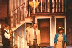 «La coulisse en folie», François Tassé, Jean-Jacqui Boutet, Diane Jules, Sylvie Cantin, Josée Deschênes, Benoît Gouin. Photo: Richard Cloutier, Journal de Québec, 1992