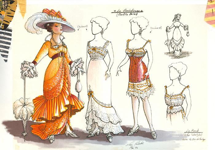 «La Ronde», costumes  créés par Luce Pelletier, 1990